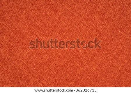 Orange fabric texture - stock photo