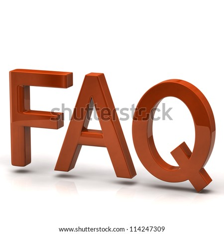 Orange FAQ icon - stock photo