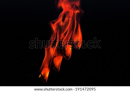 Orange fire flames - stock photo