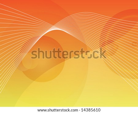 orange flare abstract