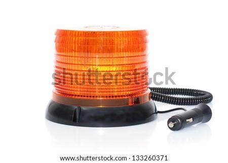 Orange flashing light. Led. - stock photo