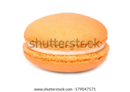 Orange French Macaroon Isolated On White