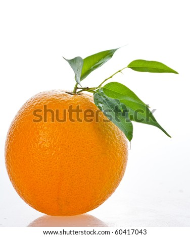 Orange fresh juice on glass - stock photo