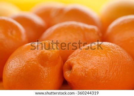 Orange fruit background / tangerine background/ orange background - stock photo