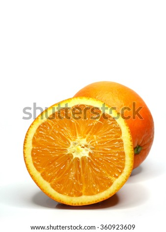 orange fruit in iso background