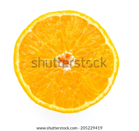 Orange fruit isolated on white