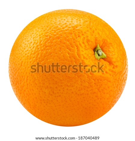 Orange fruit isolated on white background. Clipping Path - stock photo