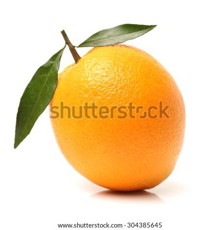 Orange fruit on the white background - stock photo