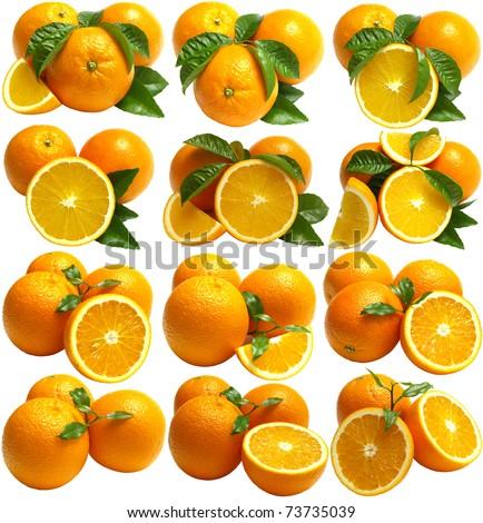 Orange fruits - stock photo