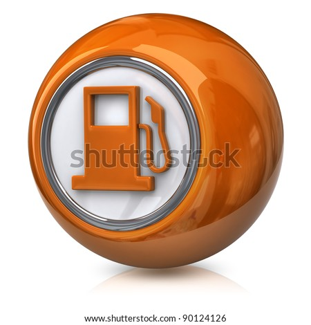 Orange fuel icon - stock photo