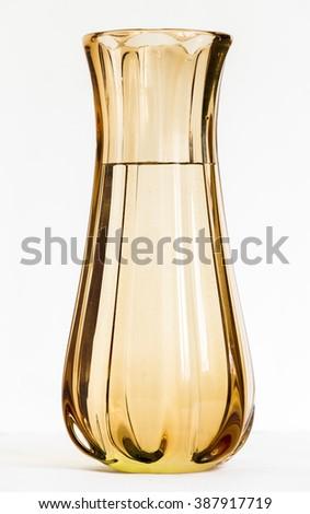 Orange glass vase - stock photo
