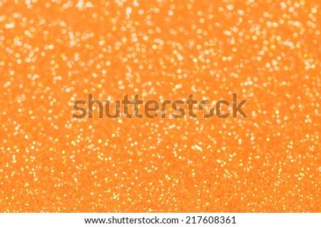 orange glitter christmas abstract background - stock photo