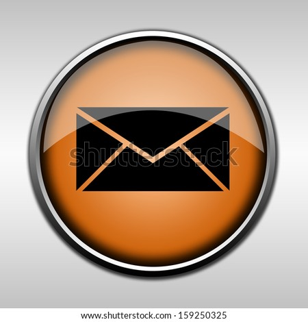 Orange glossy message button