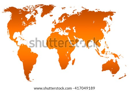 Black Worlds Map Isolated Over White Stock Illustration - Worlds map