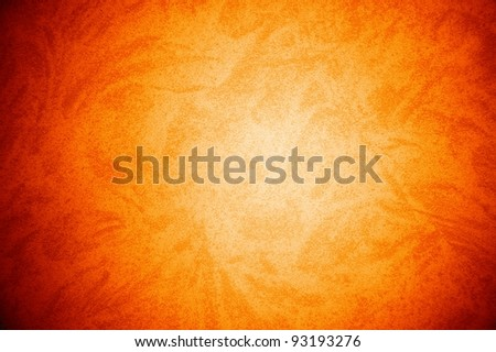 orange grained texture with free design pattern , abstract grunge background - stock photo