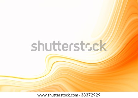 Orange graphic on white background. Copy space