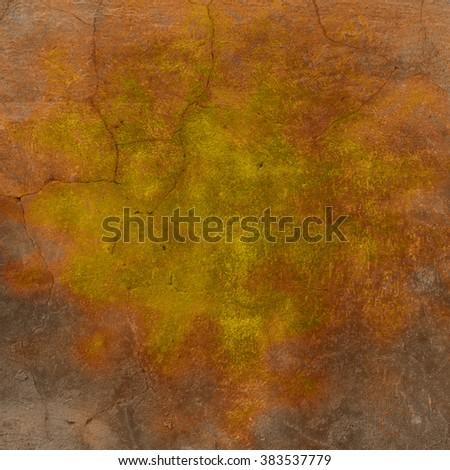 Orange gray background wall texture spot - stock photo