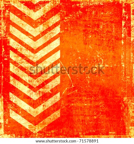 Orange grunge background with pointer