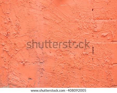orange grunge cement wall - stock photo