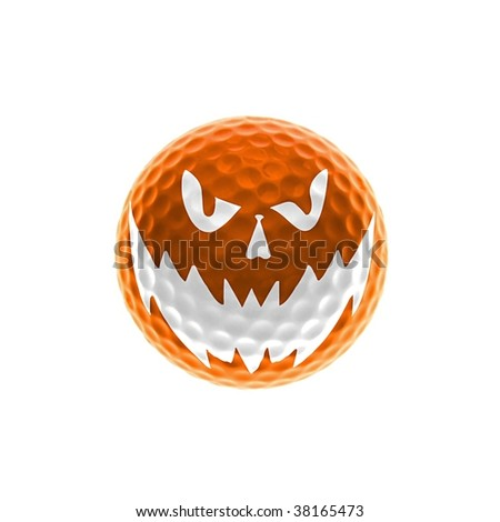 Orange halloween golf-ball
