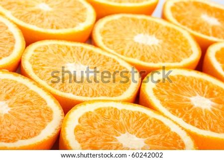 Orange halves - stock photo
