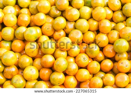 Orange honeysuckle species, stack  on the market for sale. - stock photo