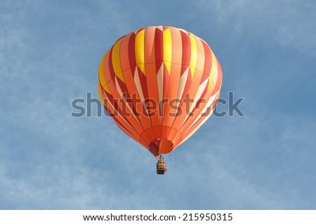 Orange Hot Air Balloon - stock photo