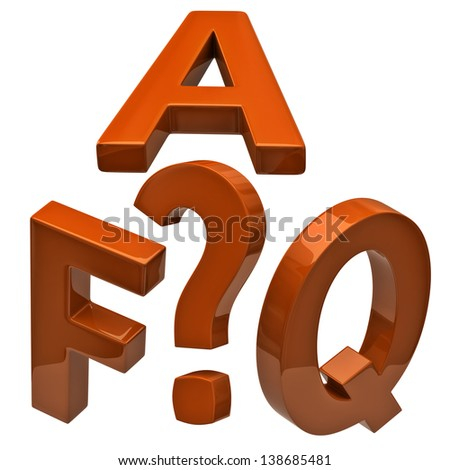 Orange illustration of frequently asked questions icon