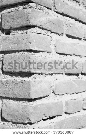 orange in europe italy old wall and antique contruction   yellow       color - stock photo