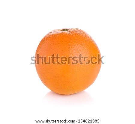 orange isolate on white background - stock photo