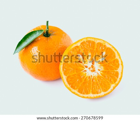 orange isolated - stock photo
