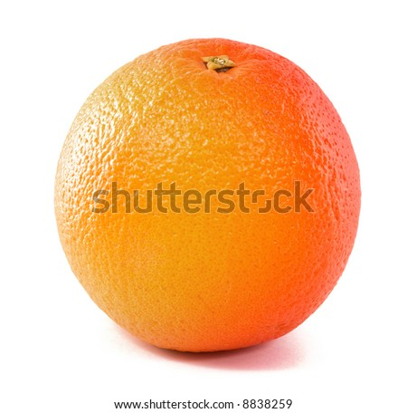 orange isolated on a white background - stock photo