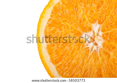 Orange isolated on a white background. Fresh fruits Isolated orange collection. - stock photo