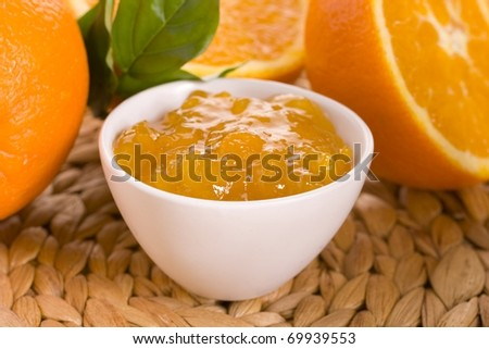 Orange jam - stock photo