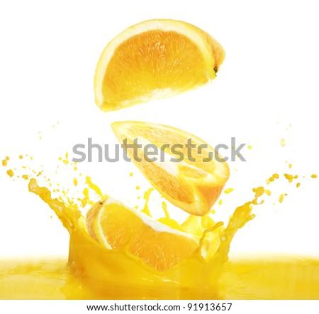 orange , juice - stock photo