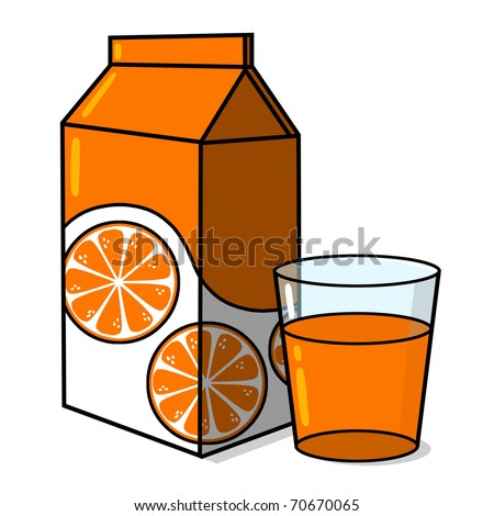 Orange Juice Carton Glass Orange Juice Stock Illustration ...