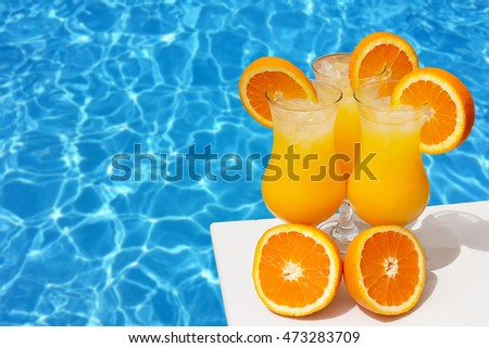 Orange juice in the pool