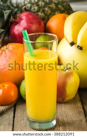 Orange Juice, Juice,  - stock photo