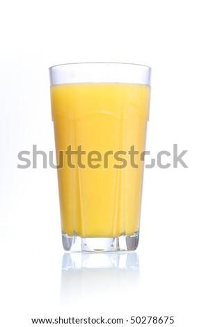 orange juice large glass - stock photo