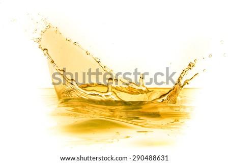 orange juice splash isolated on white background - stock photo