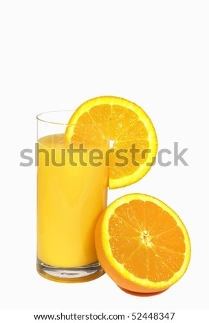 Orange juice with orange fruit .