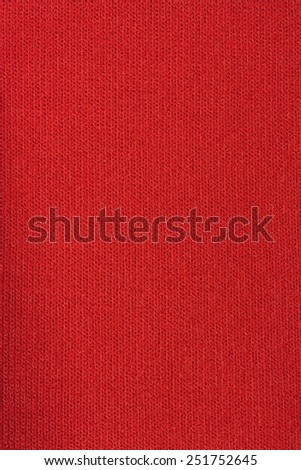 Orange knitted fabric texture background - stock photo