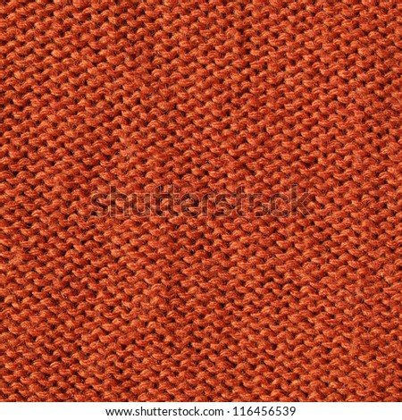 orange knitting fabric  background - stock photo