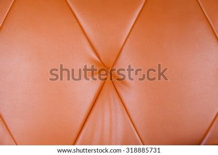 Orange leather background - stock photo