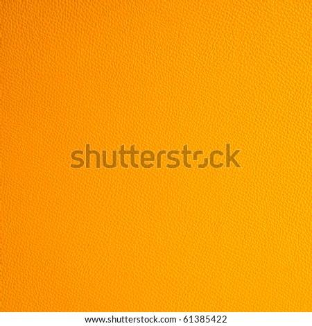 orange leather texture - stock photo