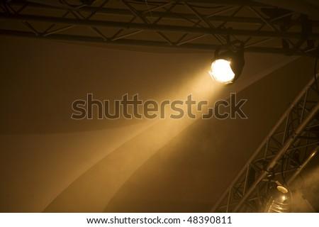 Orange Lighting - stock photo