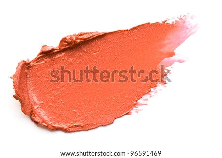 Orange lipstick smears - stock photo