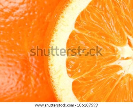 orange macro - stock photo