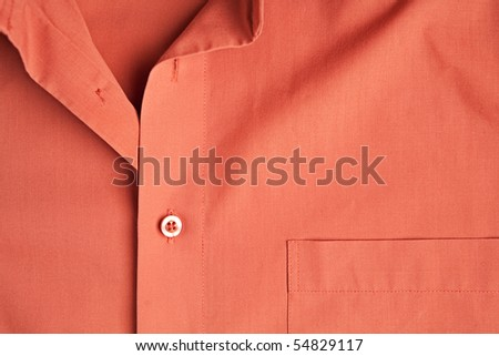 Orange man shirt background - stock photo