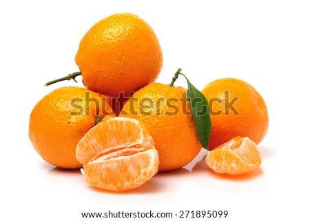 orange mandarines - stock photo